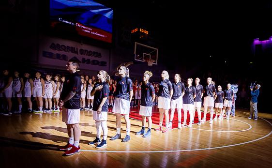 Церемония открытия баскетбольного сезона