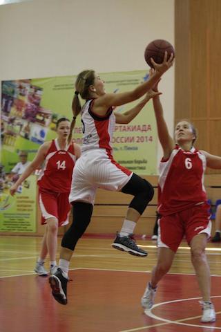 Баскетболистки из Московской области вышли в полуфинал Спартакиады молодежи России