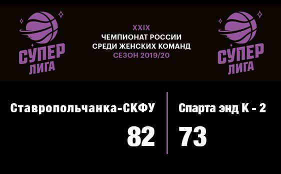 Суперлига: 0:2 в Ставрополе