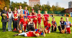 Открытие футбольного поля в ВХТЛ
